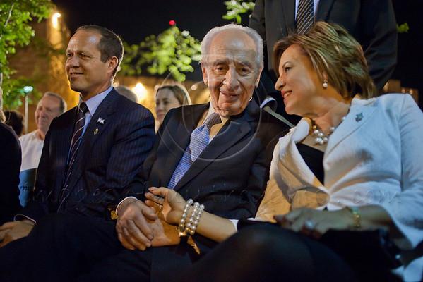 Shimon Peres, Nava Barak and Nir Barkat