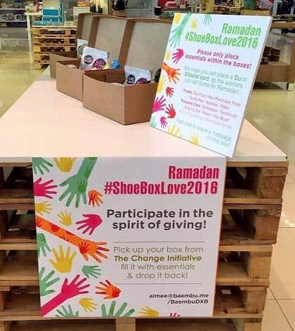 BaemBu's Ramadan #ShoeBoxLove campaign