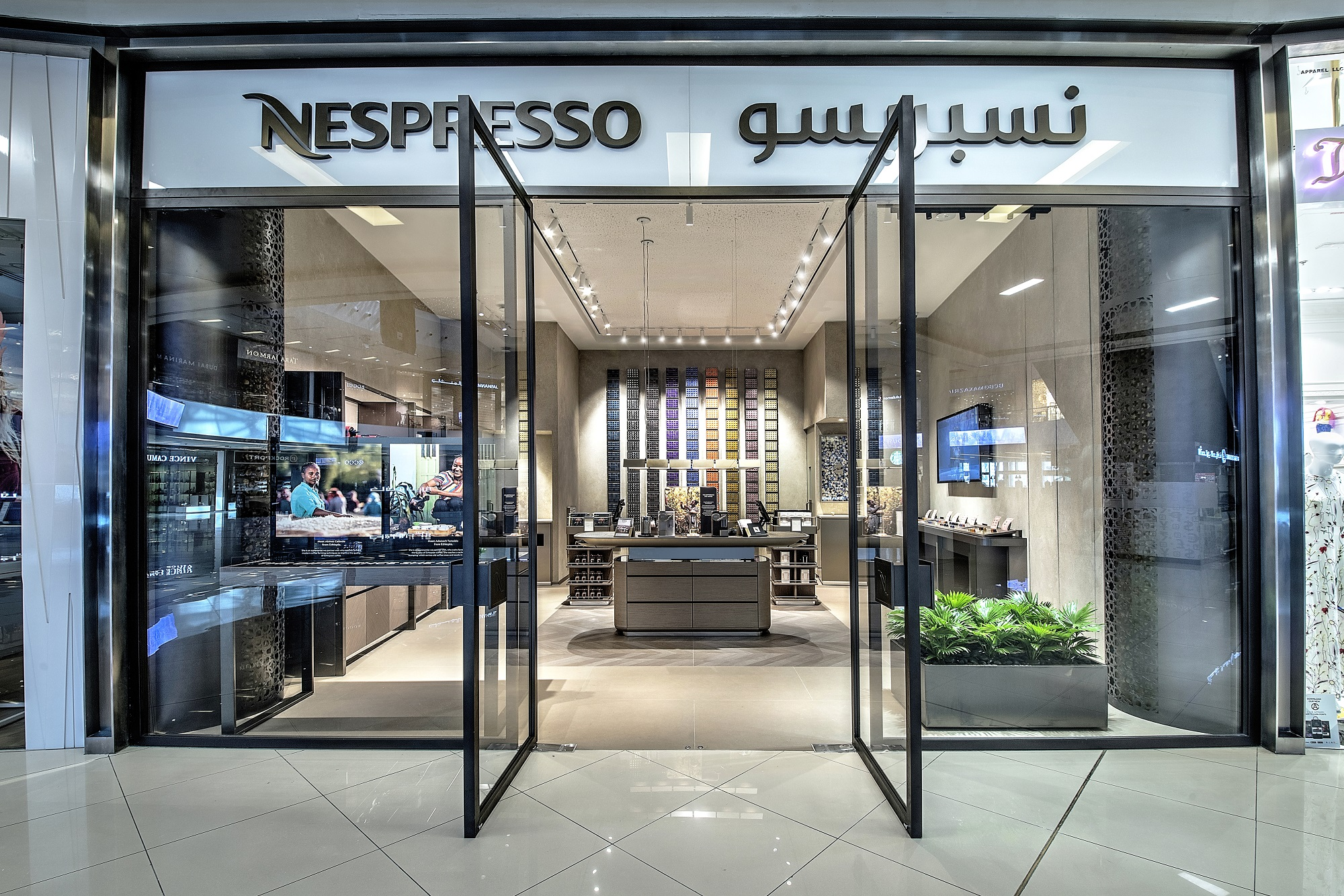 afbfaf61b45 Nespresso has launched a new boutique in Dubai Marina Mall. Located on the  ground floor of the mall