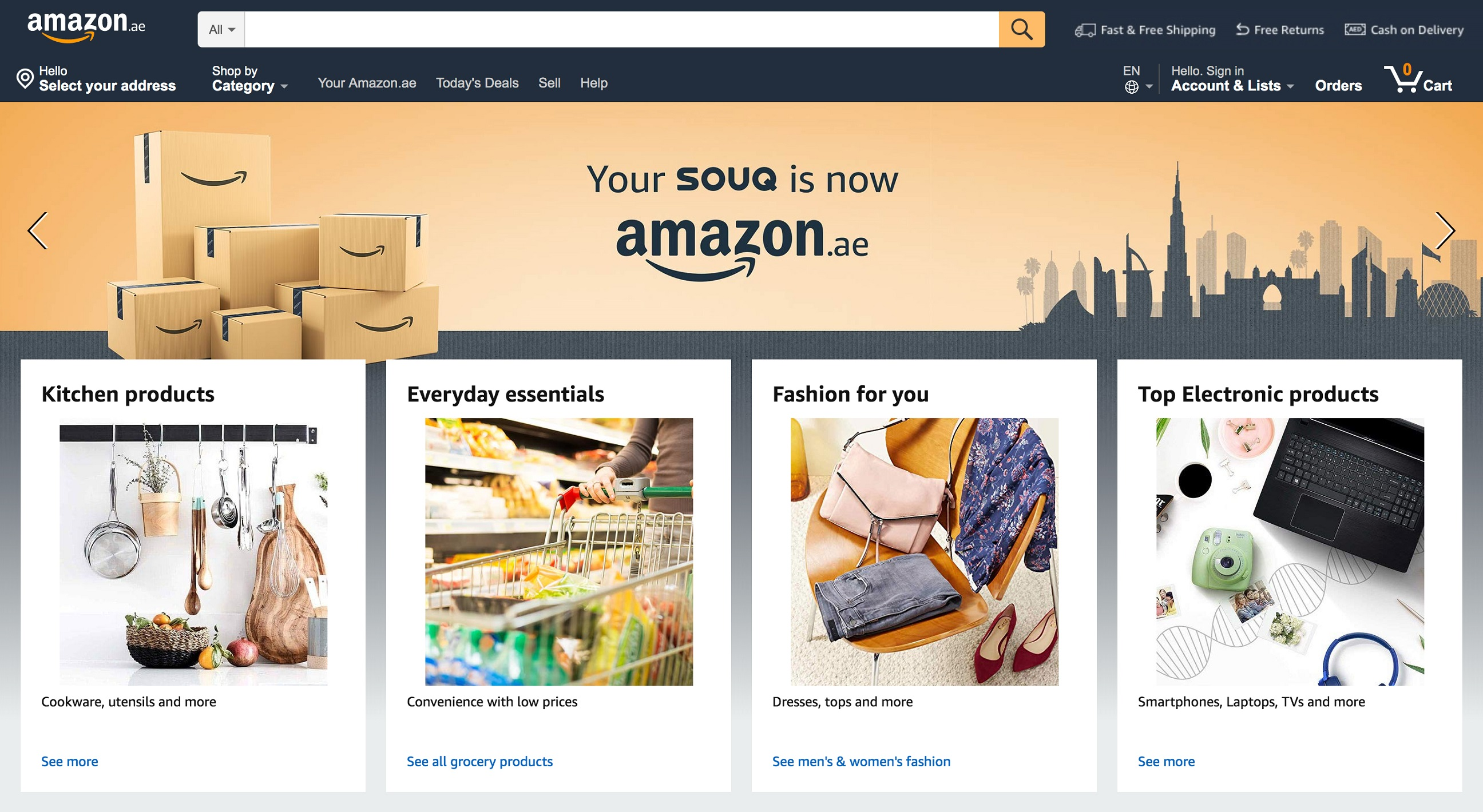 SOUQ transitions to Amazon ae - Future of retail business in middle east