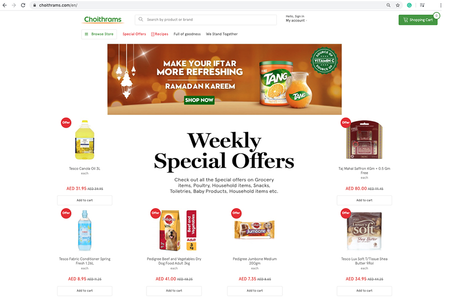Choithrams' multichannel strategy to serve consumers