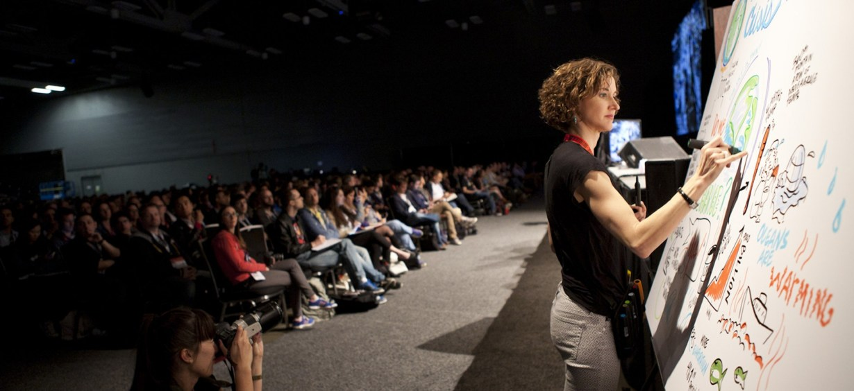 ImageThink co founder Nora Herting graphic recording at SXSWi 2015.