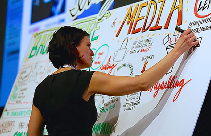 ImageThink co founder Heather Willems graphic records at SXSWi