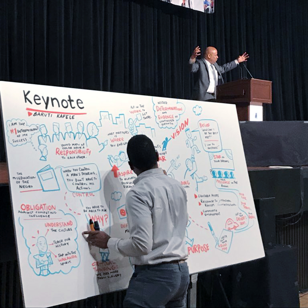 keynotes, presentations, speaking engagements, graphic recording