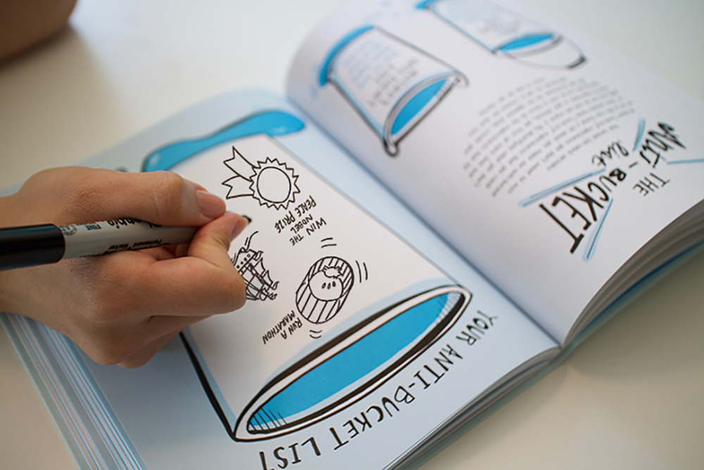 sketchnote exercises for entrepreneurs in imagethink's draw your big idea book.