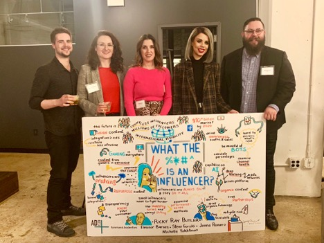 Panelists snapped a photo with their big ideas, memorialized in our graphic recording.