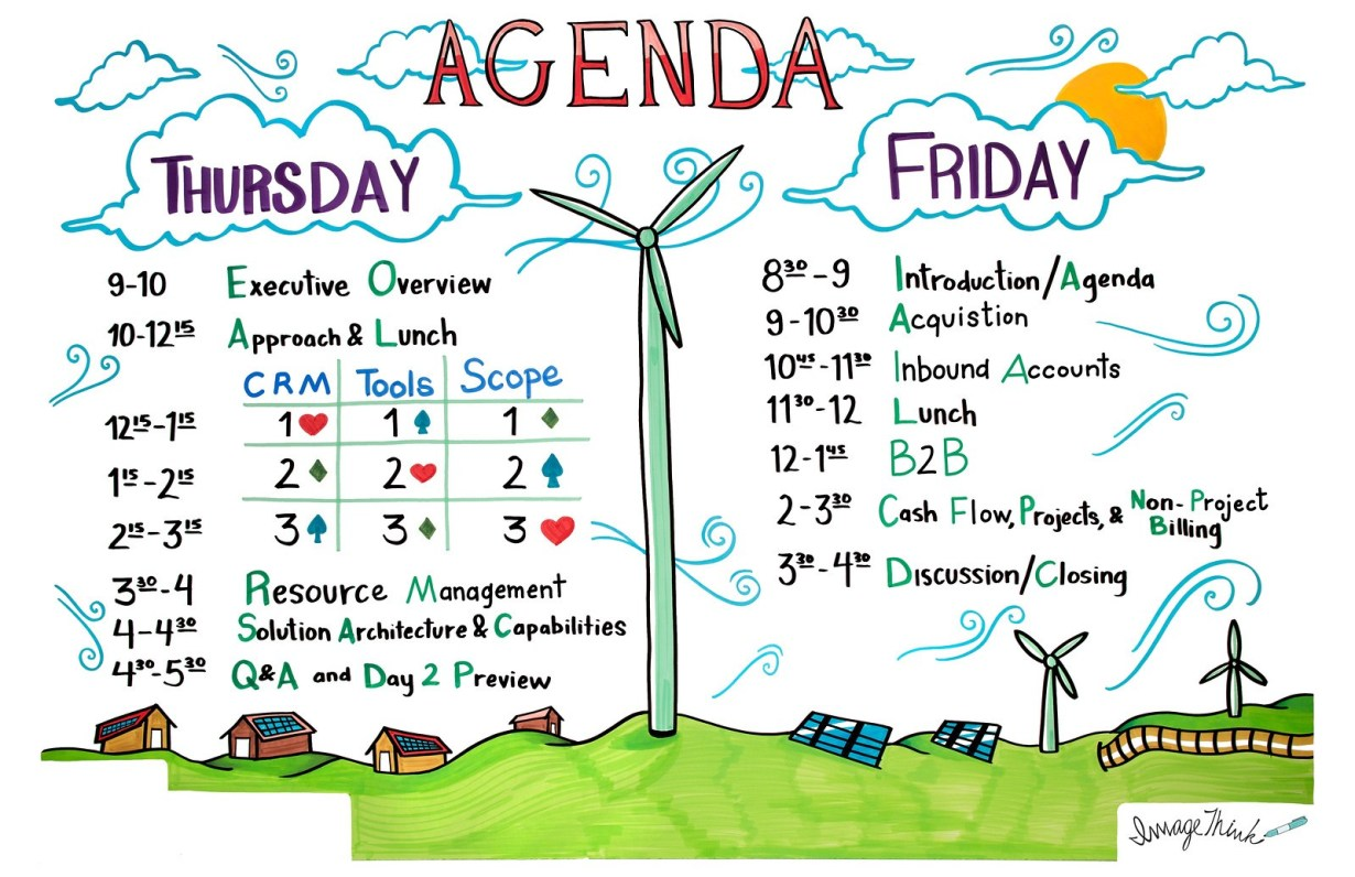 illustrated 2-day agenda