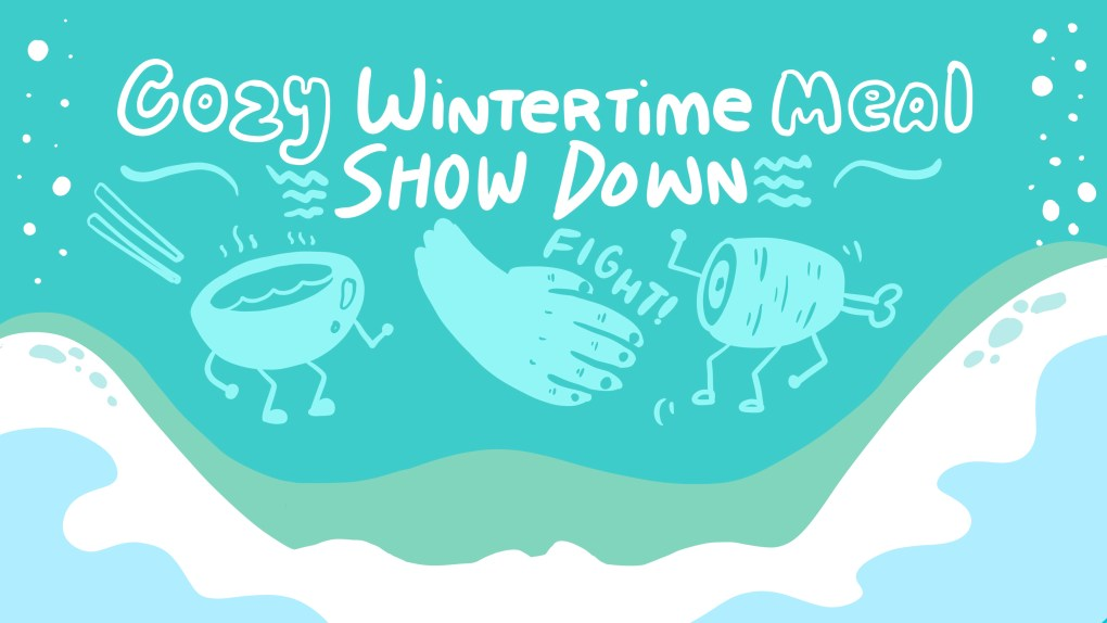 "Holiday party ideas can include games like ""cozy wintertime meal showdown"" from ImageThink"