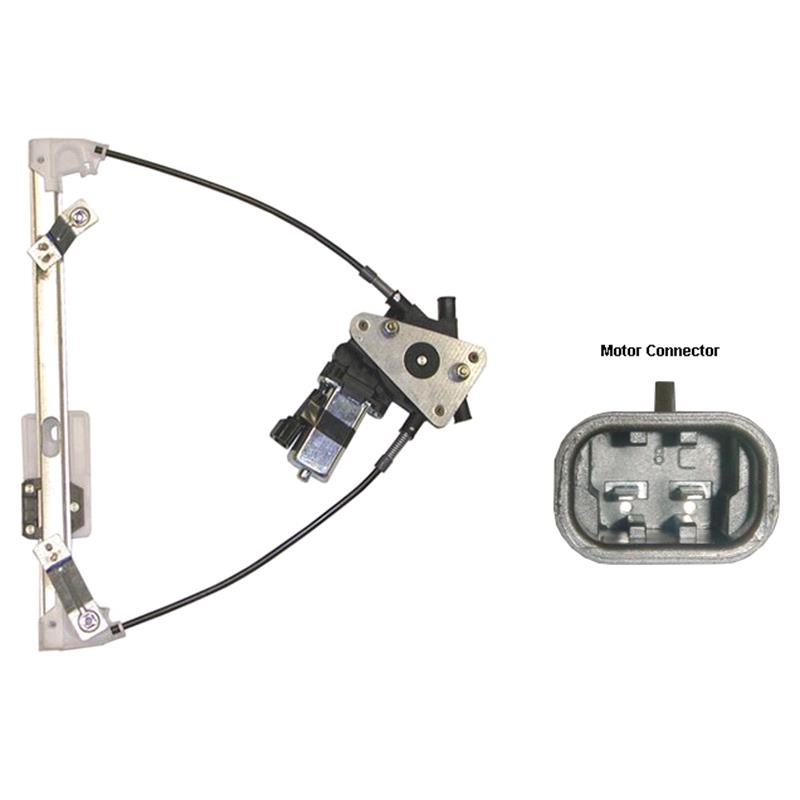 Rear Left Electric Window Regulator (With Motor) For