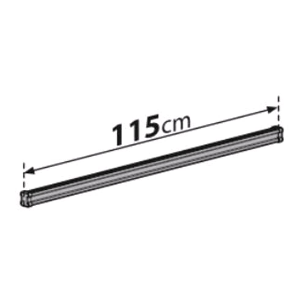 2 Steel Cargo Roof Bars (115 Cm) For Nissan Kubistar 2003