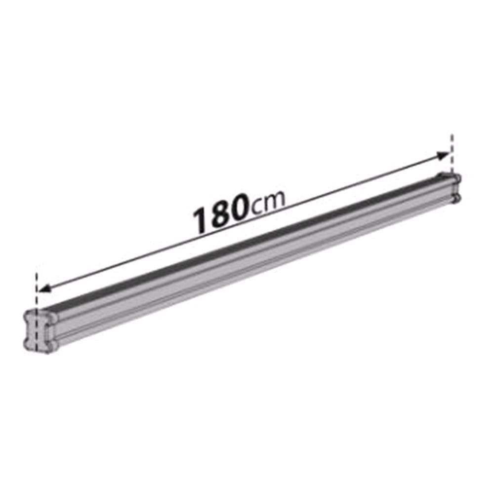3 Steel Cargo Roof Bars (180 Cm) For Vauxhall Vivaro Box