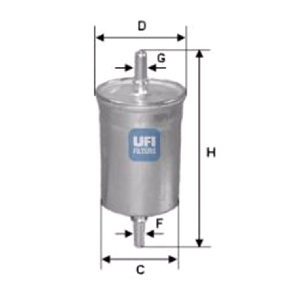 hight resolution of ufi fuel filter for saab 9 3 2002 to 2014 2 0 t 210hp 1998cc