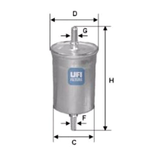 small resolution of ufi fuel filter for saab 9 3 2002 to 2014 2 0 t 210hp 1998cc