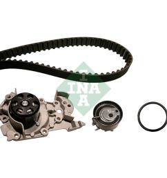 ina timing belt kit for renault clio mk ii 1998 to 2005 1 2 16v b cb05 75hp 1149cc  [ 1000 x 1000 Pixel ]