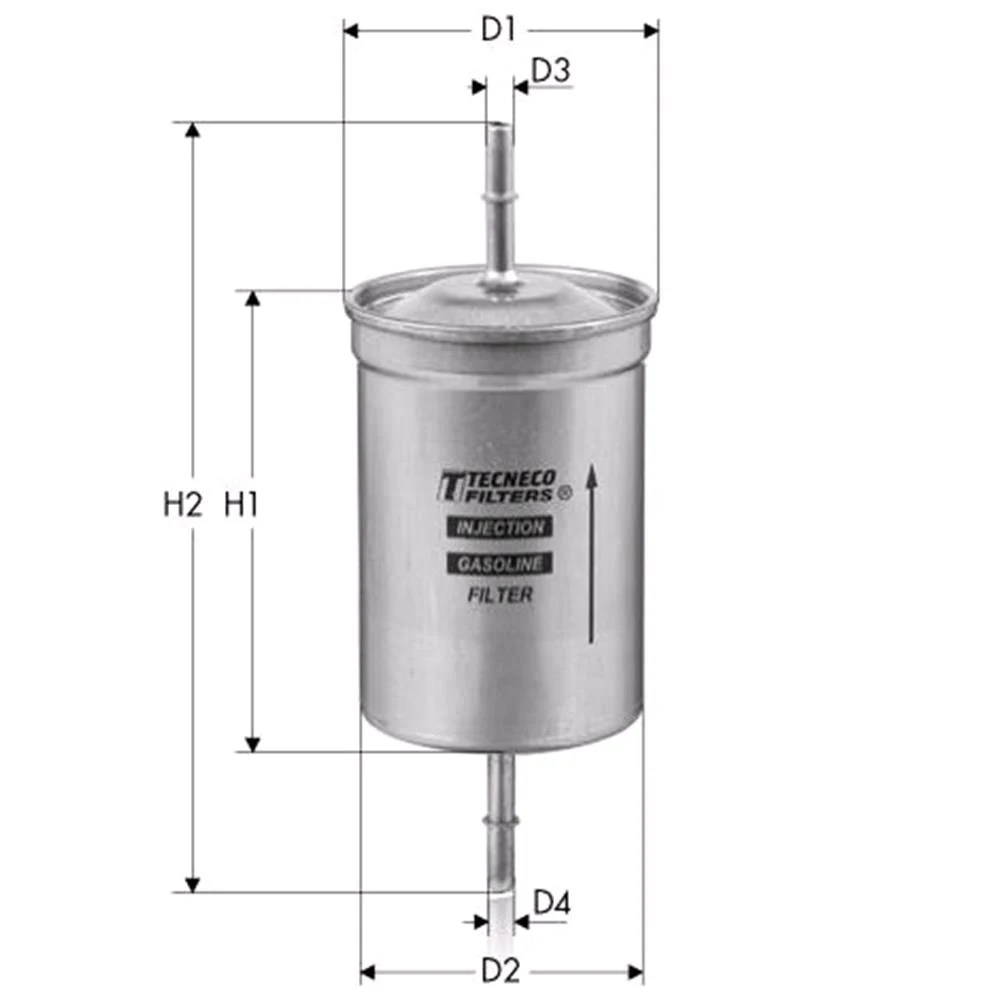 hight resolution of tecneco fuel filter for volvo s40 i 1995 to 2003 2 0 136hp 1948cc