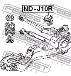 rear bumper spring nissan x trail t31 2007 2013 [ 1000 x 1000 Pixel ]