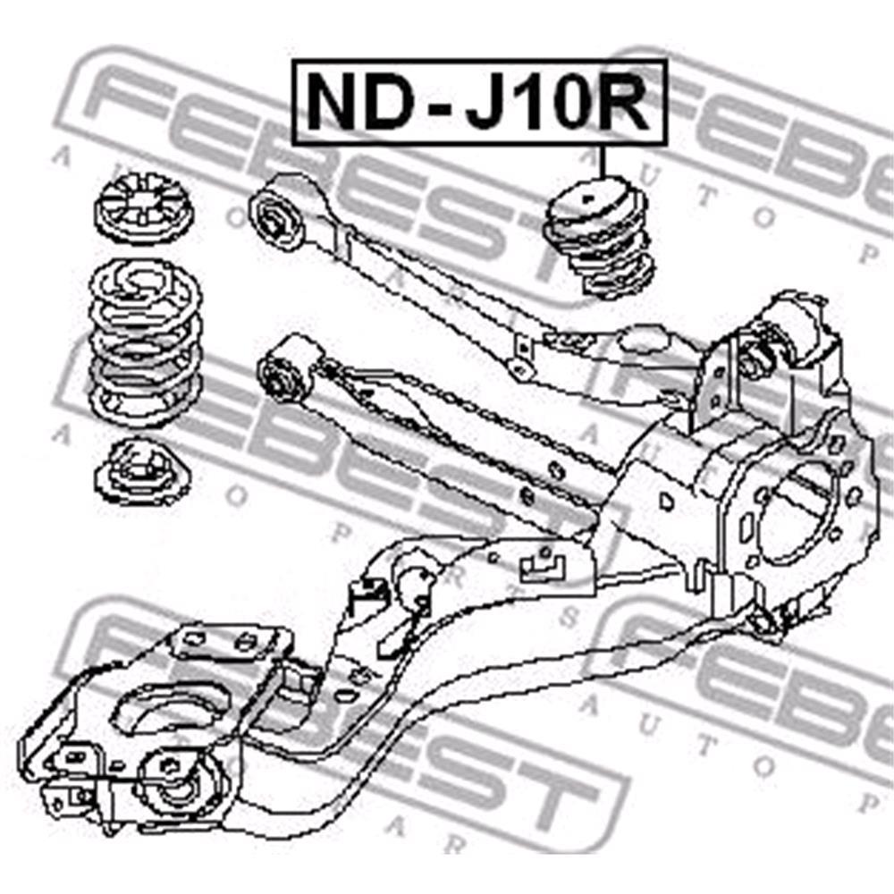 medium resolution of rear bumper spring nissan x trail t31 2007 2013