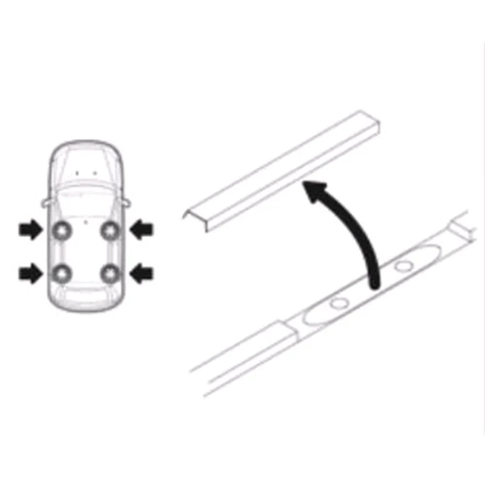 Steel Roof Bars For Nissan X Trail 2001 2007 With Fixed