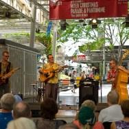 Street musicians in Brisbane city centre