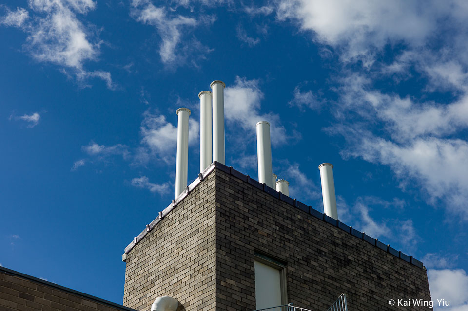 The chimneys