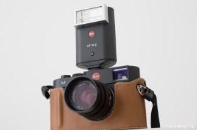 Leica M with Leica SF 24D mini flash side view