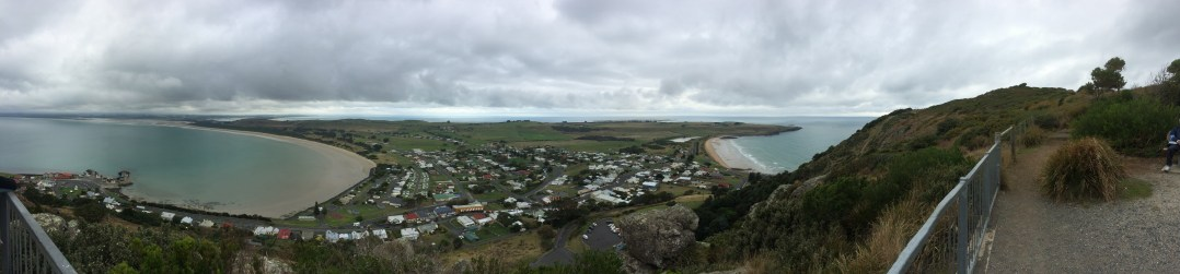 On the summit of the Nut - a pano view