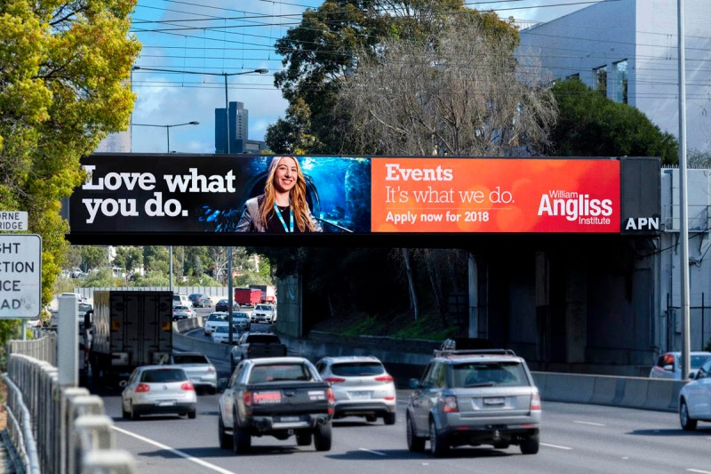 Melbourne billboard advertising featuring advertising photography portraits by Image Workshop photography