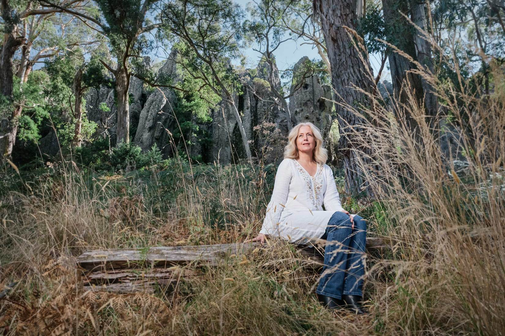 Portrait at Hanging Rock of Australian film icon Anne Louise Lambert who played the lead role of Miranda in 'Picnic at Hanging Rock'. Image by Sharon Blance.