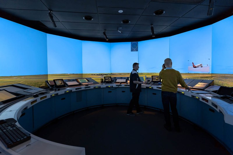 360 degree air traffic control simulator, photograph by Sharon Blance of Image Workshop Melbourne