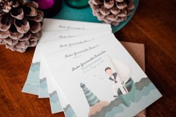 tarjeta comunión niño marinero ilustración donostia gipuzkoa