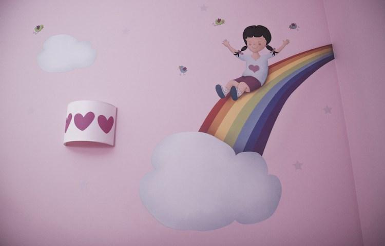 Vinilo arcoiris ilustraciones personalizadas decoración infantil donostia giuzkoa