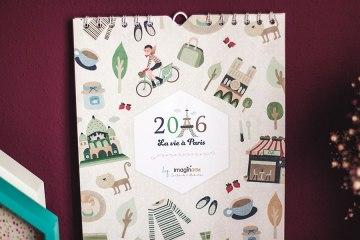 calendario bonito 2016 pared ilustraciones paris donostia gipuzkoa