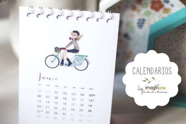 Calendario de mesa ilustrado Paris ilustración donostia Gipuzkoa