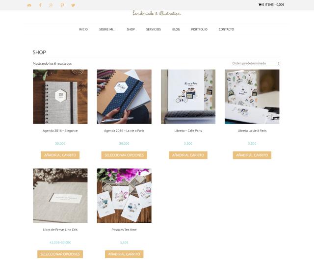 Nueva web imaginaran, tienda online