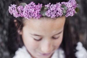 Coronas de flores, comuniones 2016