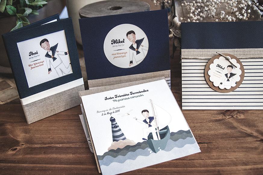 conjunto comunión album recordatorios niño marinero