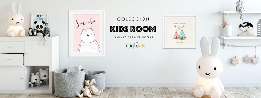 Colección Kids room, decoración infantil, láminas para el hogar