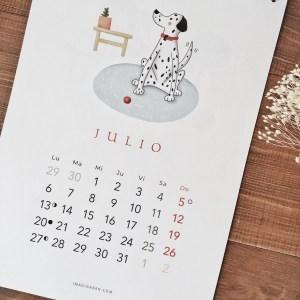 Calendario de pared 2020 perros