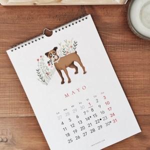 calendario de pared perros 2020