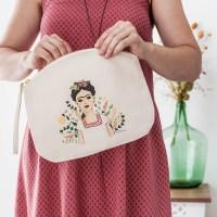 Neceser de algodón orgánico Frida Khalo