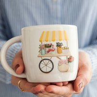 taza de cerámica primavera