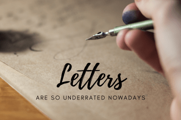 Letters are so underrated nowadays