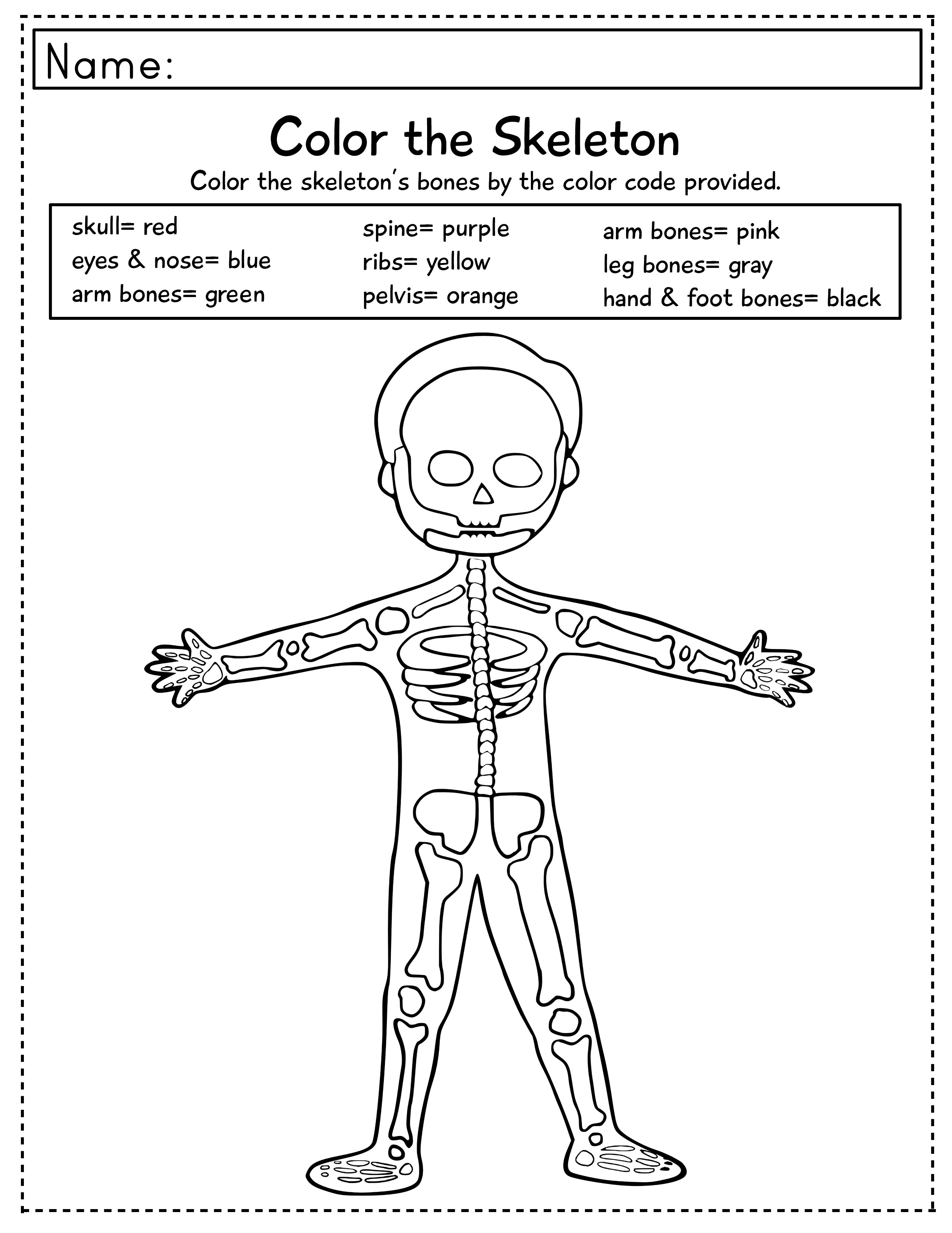 Halloween Crafts And Skeleton Learning Extensions