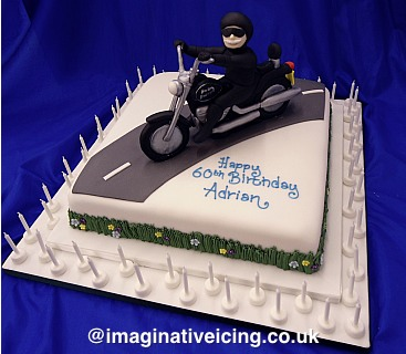 road sofa harley leather fabric set 60th birthday motorbike rider cake | imaginative icing ...