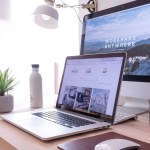 Website Design and Web development - Desk with Mac and Macbook