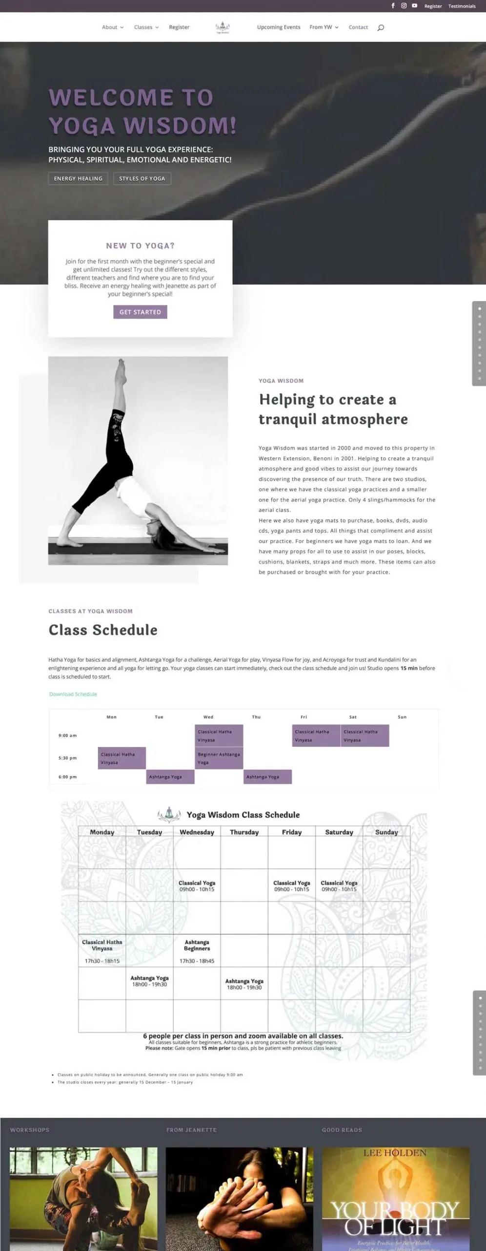 Yoga Wisdom Website