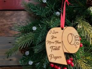 Toliet Paper Christmas Ornament
