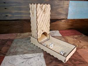 Western Rustic Theme Dice Tower + Tray