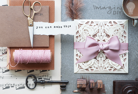 DIY wedding invitation. Luxury DIY wedding stationery supplies. Make your own wedding stationery. Blank laser cut invitatons