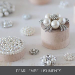 Wedding ideas. Luxury DIY wedding stationery. How to make your own wedding stationery. Pearl embellishments in white and cream pearls with crystal details.